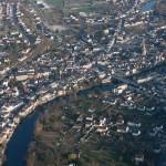 Argenton-sur-Creuse vue du ciel