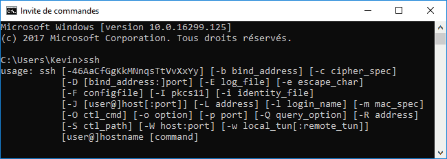 win10-ssh-command