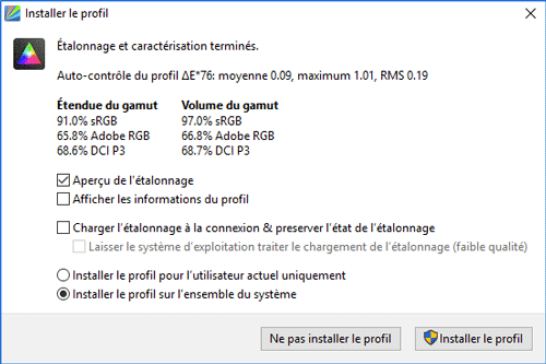 displaycal_fin_etalonnage
