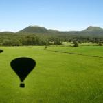 L'ombre de nos montgolfières se dessine au sol