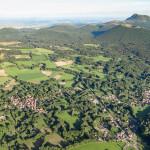 Les Roches, la route du col des Goules, Clermont Ferrand et la chaîne des Puys