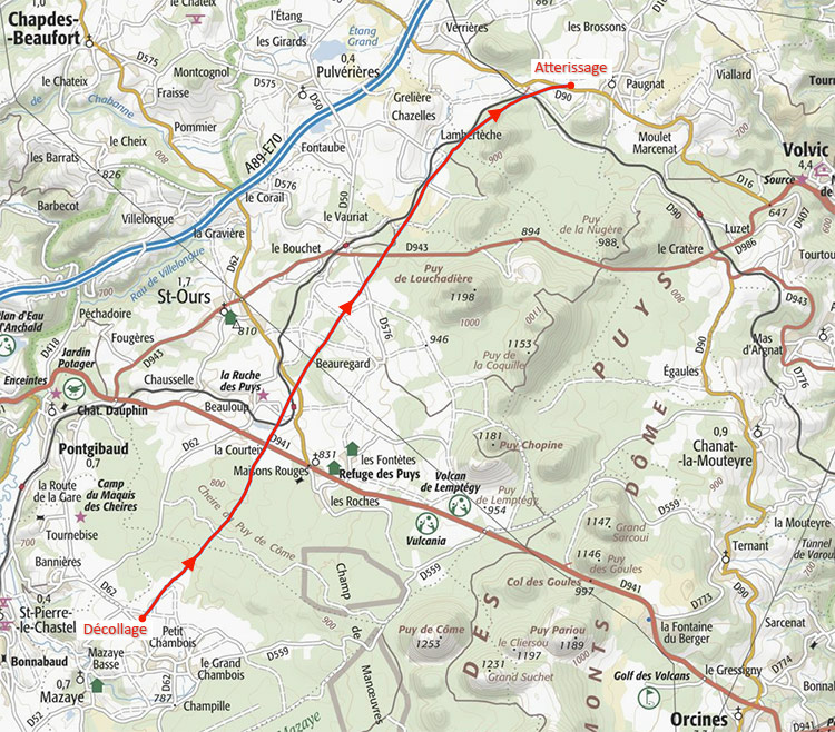 Trace GPS du vol